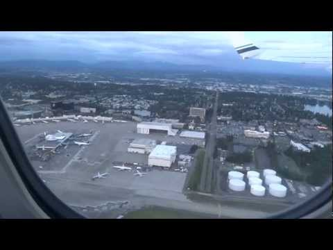 Seattle Airport Review USA Tour Planes and Air Travel on Car Buying Trip In the Air