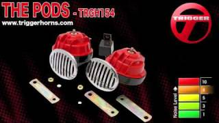Trigger Horns™ The Pods™ Electric Dual-Tone Turbine Horn - TRGH154