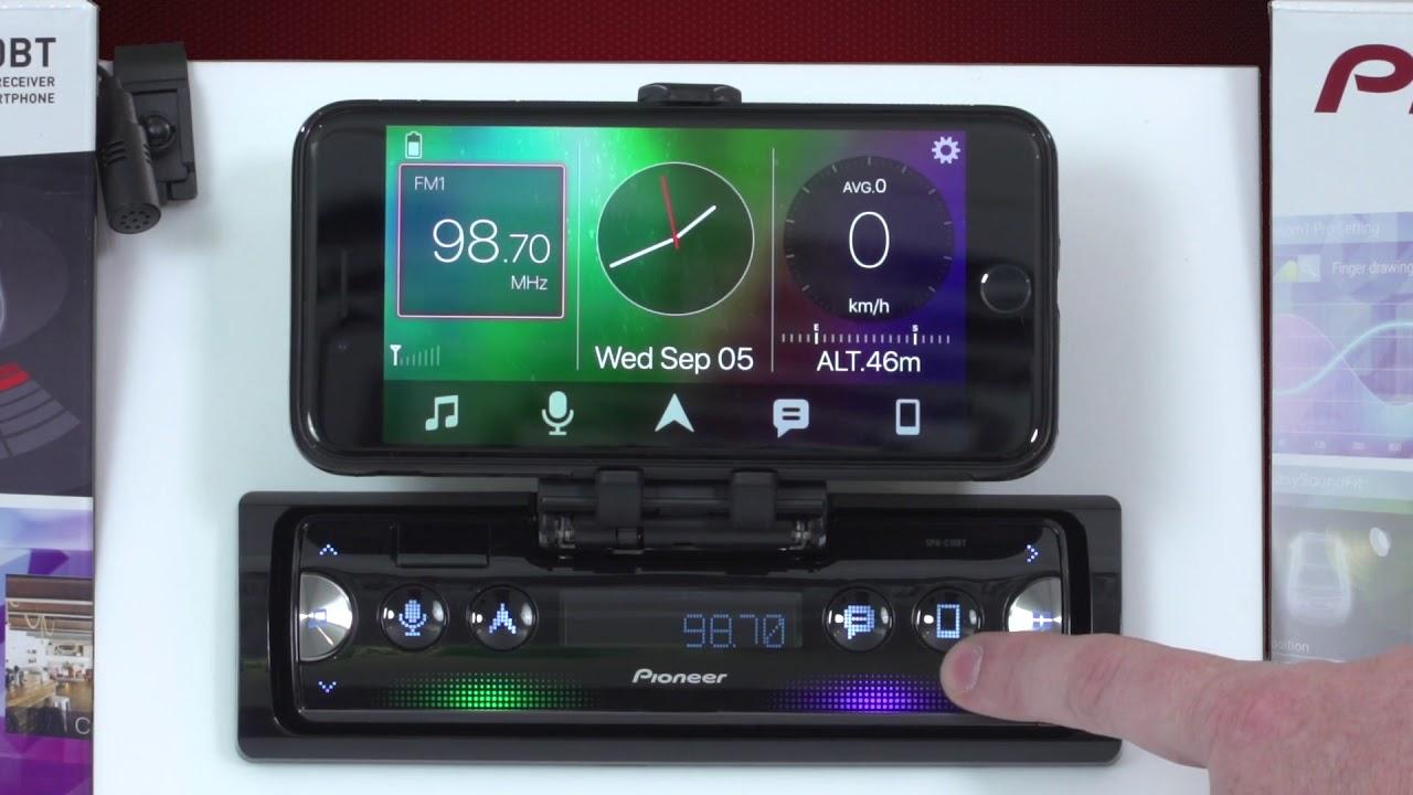 Pioneer SPH-10BT Single DIN Smartphone Receiver