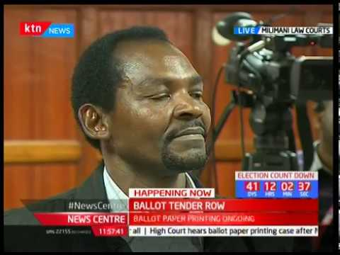 Ballot Tender Row : Ballot paper printing case happening at Milimani law courts
