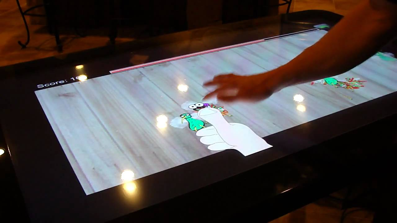 T Touch Screen Restaurant Table YouTube - Restaurant table games