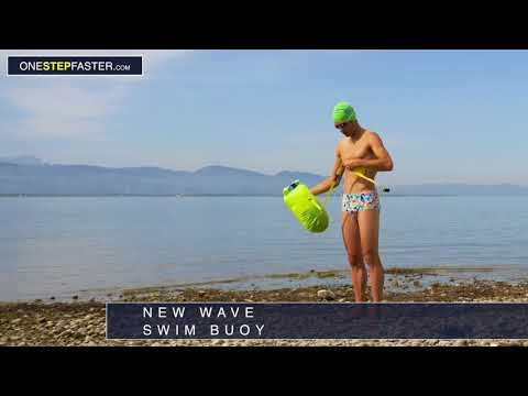 Schwimmbad F/ür Open Water Und Triathlon Leicht Doppel-Ballon Open Water Schwimmen Swim Boje 20L Langlebiges Hochsichtbare Swimming Safety Buoy Schwimmboje Aufblasbar Strand