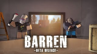 Best Roblox Survival Game There Is! | Barren [Beta] | EXACTLY LIKE RUST