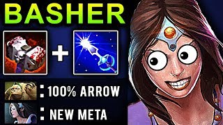 BASHER MIRANA DOTA 2 PATCH 7.07 NEW META PRO GAMEPLAY