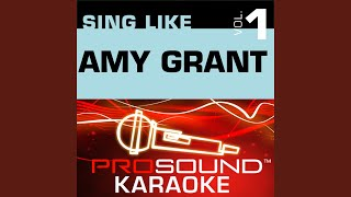 Stay For Awhile (Karaoke Instrumental Track) (In the Style of Amy Grant)