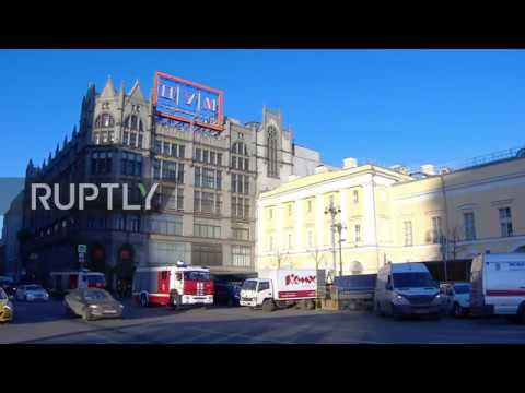 Russia: Fire under control at Moscow's TsUM mall after mass evacuation