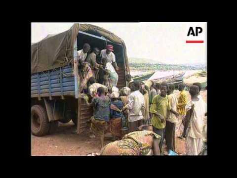 Tanzania - Refugees flood into camps