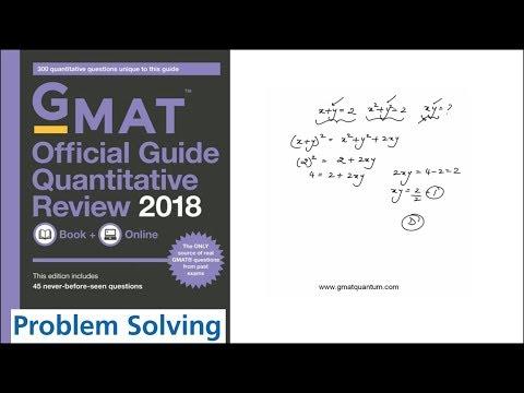 Q001 Problem Solving 2018 GMAT Quantitative Review