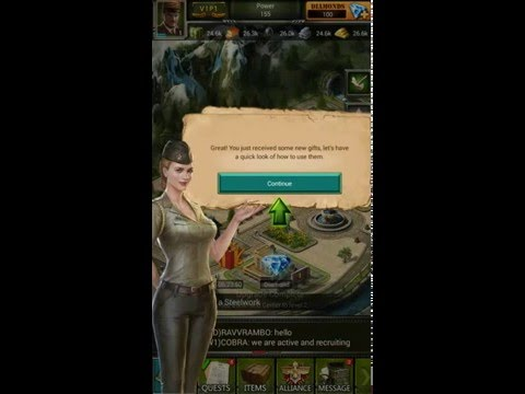 Clash of commanders: Iron tides Tutorial android