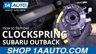 How to Remove Clockspring 10-14 Subaru Outback