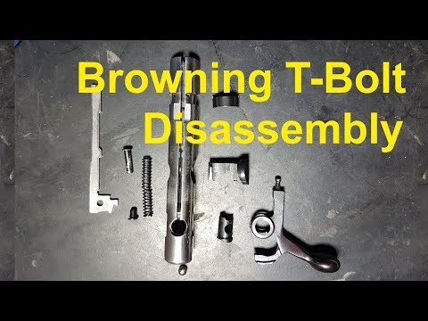How To Disassemble The Bolt Of A Browning T-Bolt