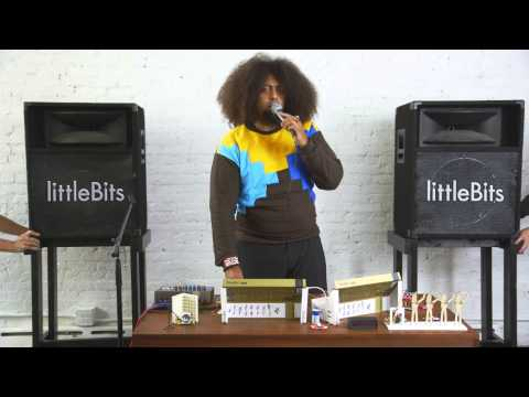 A littleBit rock 'n' roll: Reggie Watts rocks the newly launched SynthKit, and electronic music goes mini-modular