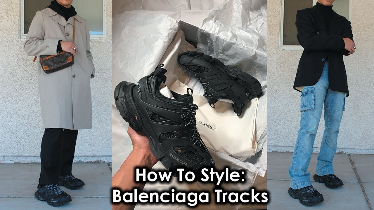 Balenciaga Oversized Leather Track Jacket in Black for Men