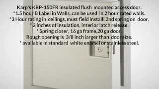 Karp Fire Rated Access Doors