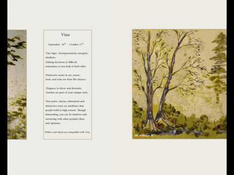 Ancient Celtic Trees & Birthsigns -  paintings by Maura O'Rourke of Iconic Ireland