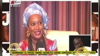 Lamine Samba pleure Mame Binta la femme de Aziz Ndiaye décédé