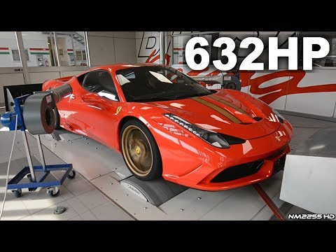 Ferrari 458 Speciale with High Flow Cats Dyno Runs! - Screaming V8 Sounds & Results!