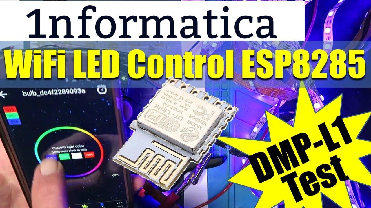 ESP8285 WiFi Intelligent Lighting Module DMP L1 Tutorial