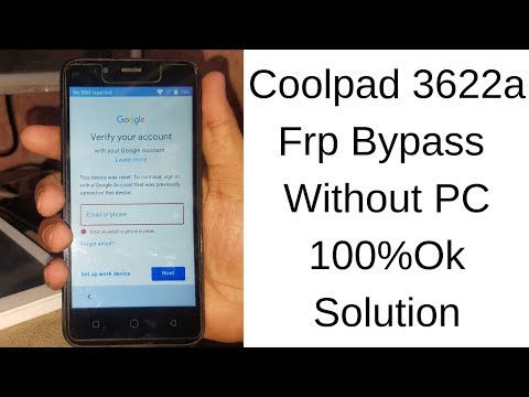 Coolpad 3622a Frp Bypass Without PC 100%Ok Solution mobile
