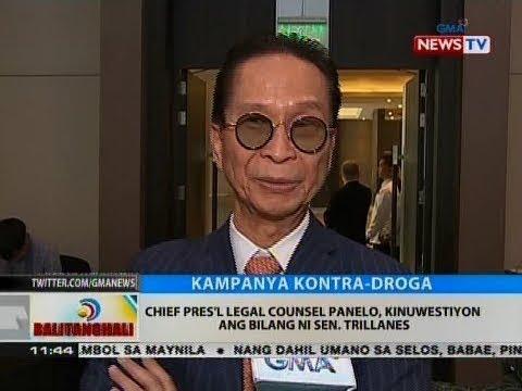 BT: Chief Pres'l Legal Counsel Panelo, kinuwestiyon ang bilang ni Sen. Trillanes