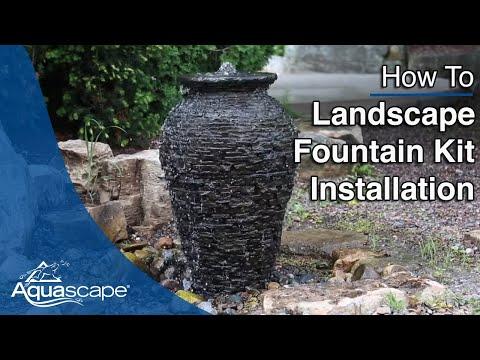 Landscape Fountain Kit Installation
