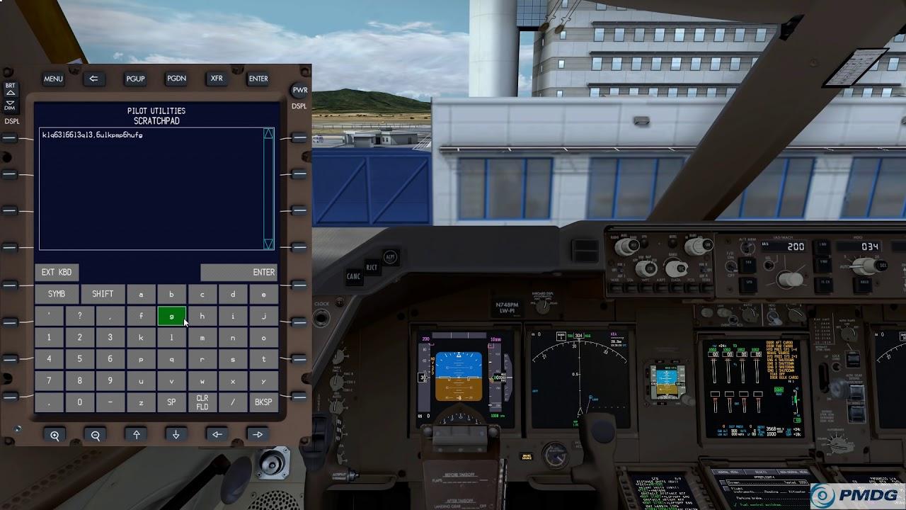PMDG 747-8 features and quick cockpit tour