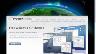 how to install themes on windows xp sp2
