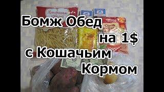Бомж Обед на $1 с Кошачьим Кормом. НЕ ПОВТОРЯТЬ, НЕВКУСНО
