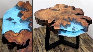 How to Make Epoxy Coffee Table | Resin Art | Manta Ray in Resin