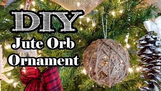 Chic Jute Orb Ornament