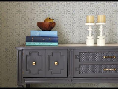 grey painted furnitureGrey Painted Furniture with Glaze Ideas  YouTube