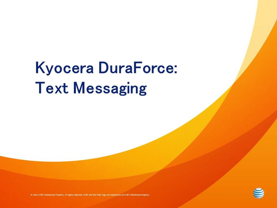 Kyocera DuraForce : Text Messaging