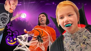 MYSTERY PUMPKIN DROP!! Spooky Family Challenge and Halloween Test! (45ft smash to see whats inside)