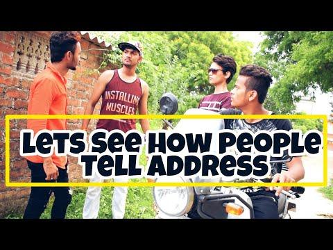 🤗Lets See How😈 People Tell Address ? | Delhi | Uttar Pradesh | Haryana | Aakash Goswami Vines