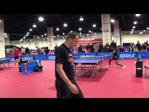 Team JOOLA - Aruna, Quadri and Rosskopf, Joerg practice #3