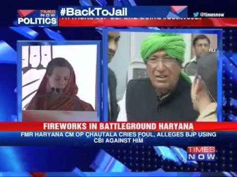 Back To Jail: Sonia Gandhi hits at OP Chautala