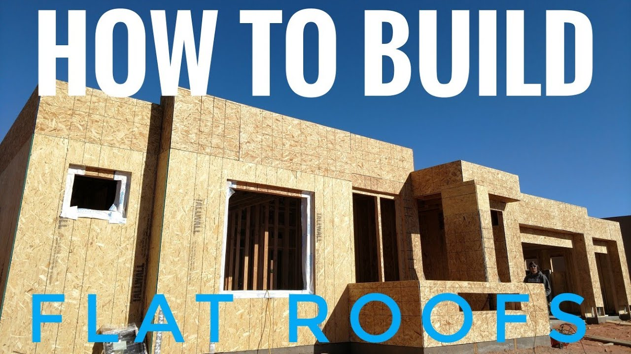 Flat Roof Framing Diy Youtube