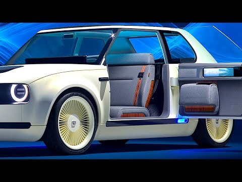 Honda Electric Car INTERIOR Video Honda Urban EV Interior New Honda Concept Frankfurt Motorshow 2017