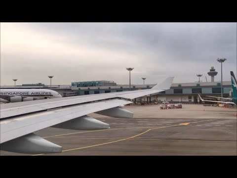 Cathay Pacific A330-300 FULL Taxi and takeoff from Singapore Changi