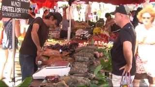 Ajaccio, Porticcio (Corsica) - Markt (marché), haven (port), strand (plage), 23 juli 2012