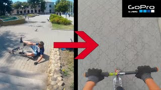 Vlog#1: GoPro Scooter Street [HD] - ТРЮКИ НА САМОКАТЕ ОТ ПЕРВОГО ЛИЦА!