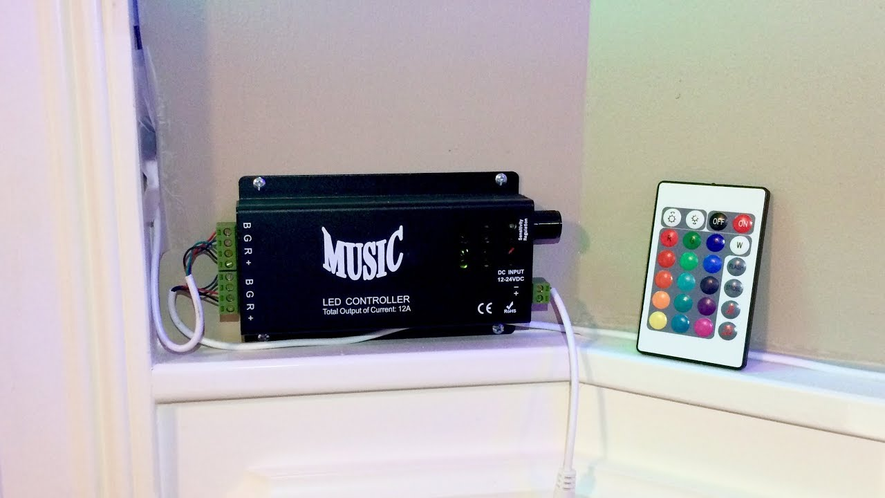 Sound Activated Rgb Led Music Controller For Halloween Youtube