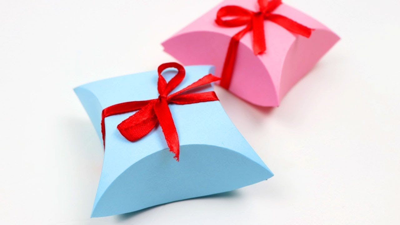 How to Make Easy Paper Gift Box DIY Arts & Crafts ...