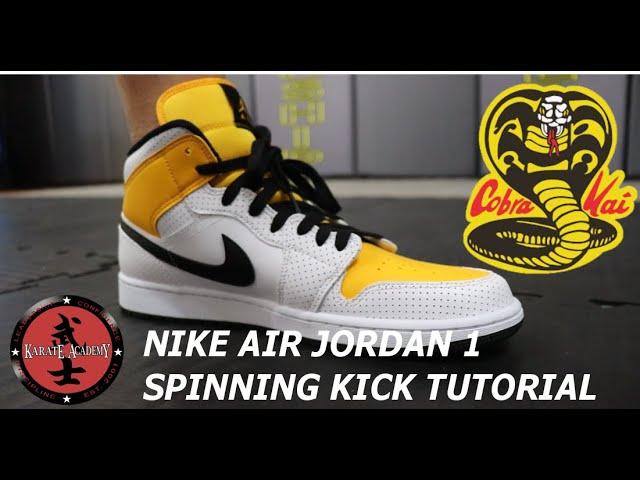 Nike Air Jordan 1 University Gold Cobra Kai Shoes No Shoes On The ...