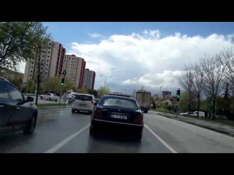 Ankara street video, scenes from Ankara streets, driving in the streets of the city