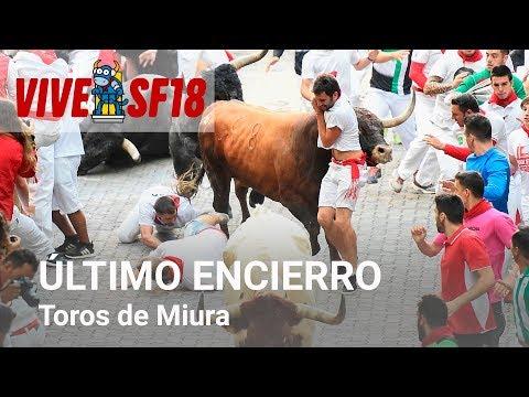 Octavo encierro de San Fermín 2018 | Toros de Miura | Vive San Fermin