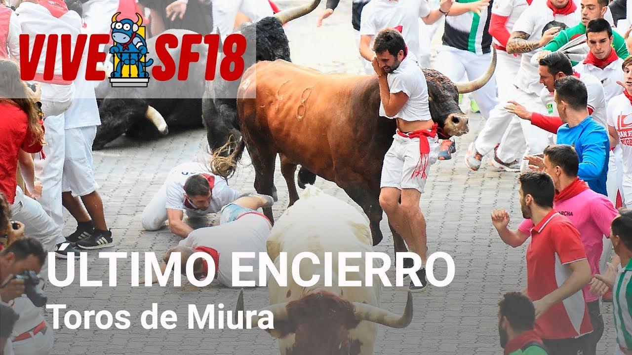 Octavo encierro de Sanfermines 2018 | Toros de Miura | Vive San Fermin