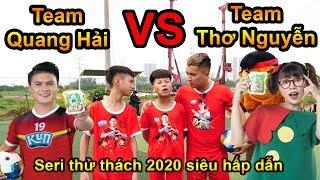 Thử Thách Bóng Đá sút bóng trúng đích Team Quang Hải VS Team chị Thơ Nguyễn - Trọng Tài Đỗ Kim Phúc