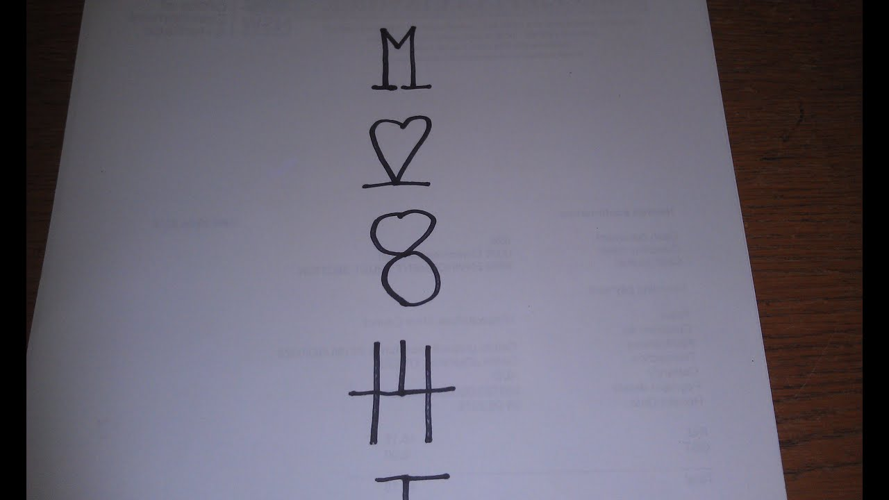 How To Solve The M Heart 8 Puzzle 5 Symbols In A Column And Then
