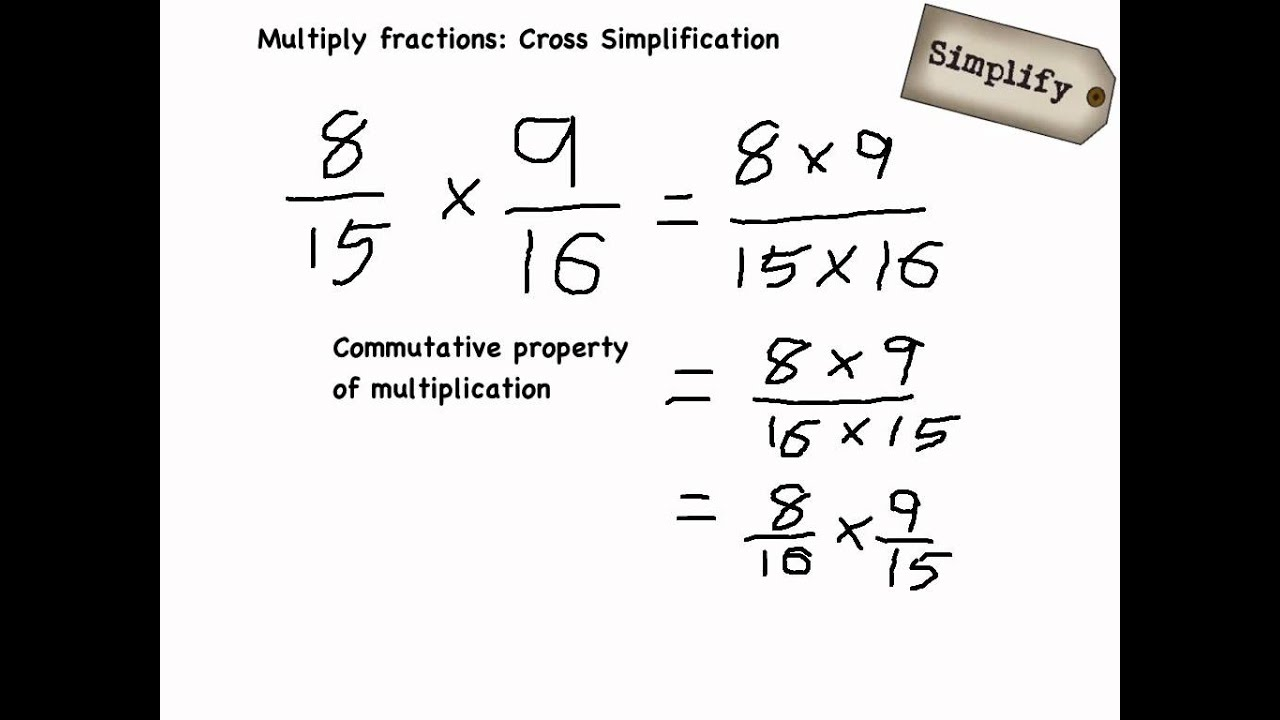 Multiply Fractions Cross Simplification
